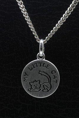 Zilveren My little cat ketting hanger