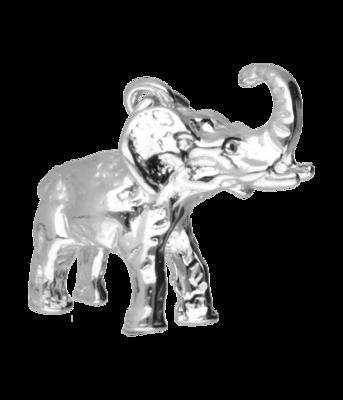 Zilveren Olifant middel ketting hanger