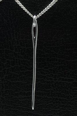 Zilveren Stopnaald ketting hanger
