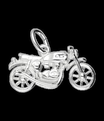 Zilveren Motor ketting hanger - 4