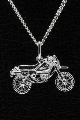 Zilveren Motor ketting hanger - 6