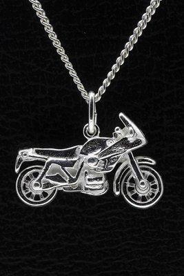 Zilveren Motor ketting hanger - 7