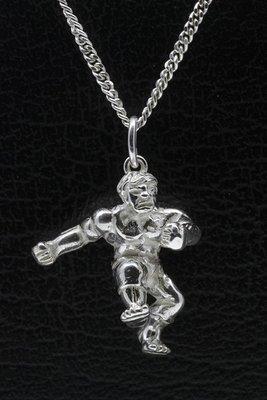 Zilveren De Hulk ketting hanger