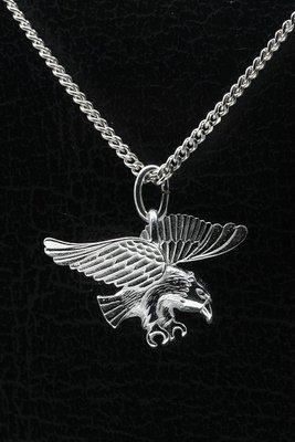 Zilveren Arend ketting hanger - 2