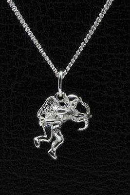 Zilveren Cupido ketting hanger