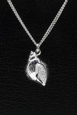 Zilveren Hoornslak ketting hanger