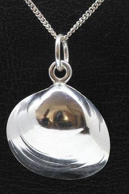 Zilveren Venus schelp ketting hanger