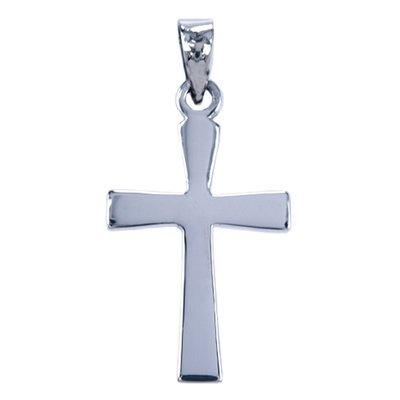 Zilveren Kruis ketting hanger - glad