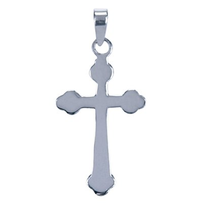 Zilveren Kruis glad ketting hanger