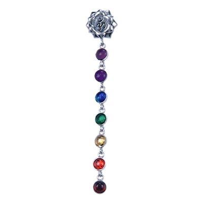 Zilveren Chakra Lotus ketting hanger - Aum
