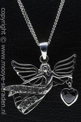 Zilveren Angel of hope ketting hanger