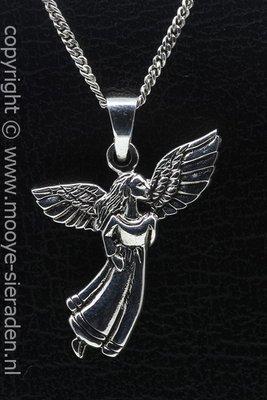 Zilveren Engel ketting hanger
