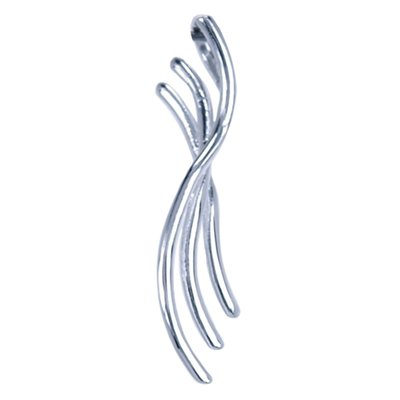 Zilveren 3 Lijnen strak fantasy design ketting hanger