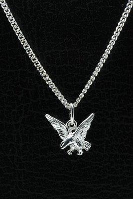 Zilveren Adelaar ketting hanger klein