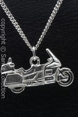 Zilveren Honda Goldwing motor vlak ketting hanger