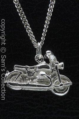 Zilveren Motoguzzi motor ketting hanger
