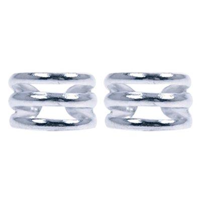 Zilveren 3 ringen Oorklem