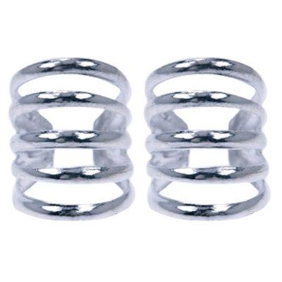 Zilveren 5 rings Oorklem