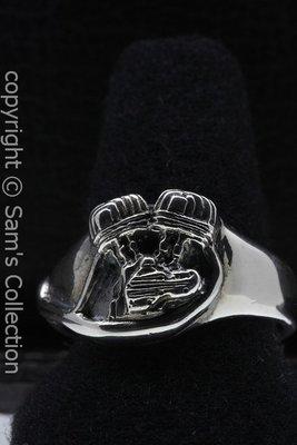 Zilveren Harley Liberator blok ring
