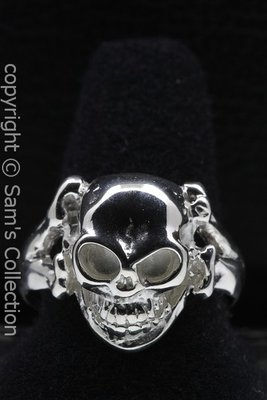 Zilveren Skull and bones ring