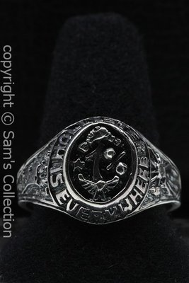 Zilveren Hollister 1% ring
