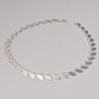 Zilveren design halsketting Adelia 43 cm