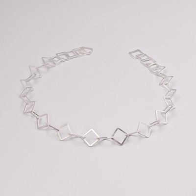 Zilveren design halsketting Adilah 43 cm