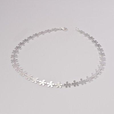Zilveren design halsketting Adanya 43 cm