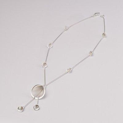 Zilveren design halsketting Aaffina 43 cm