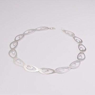 Zilveren design halsketting Bastiana 43 cm