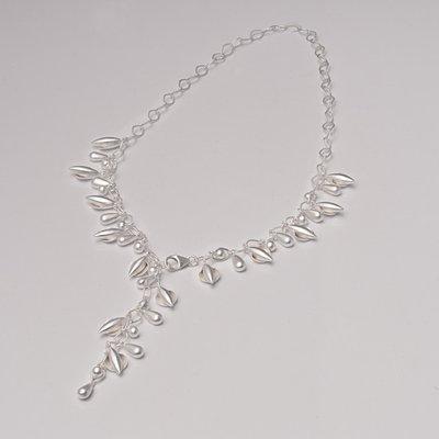 Zilveren design halsketting Aida 43 cm