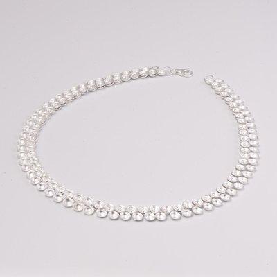 Zilveren design halsketting Basya 43 cm