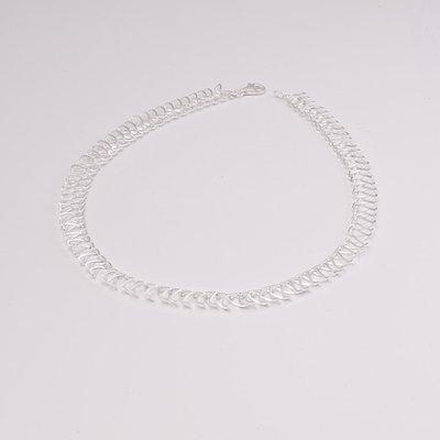 Zilveren design halsketting Bauwke 43 cm