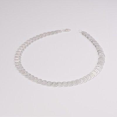 Zilveren design halsketting Basma 43 cm