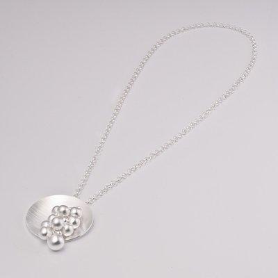 Zilveren design halsketting Besire 60 cm
