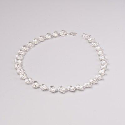 Zilveren design halsketting Cacilla 43 cm