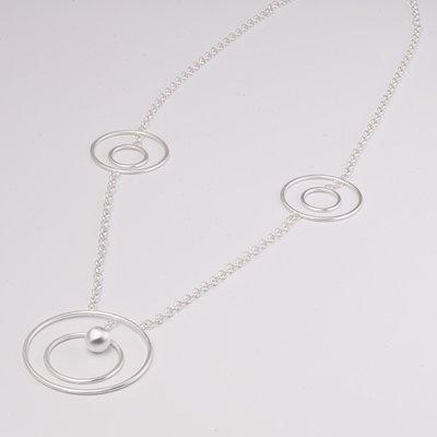 Zilveren design halsketting Cacharel 41 cm