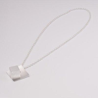 Zilveren design halsketting Beatriz 59 cm