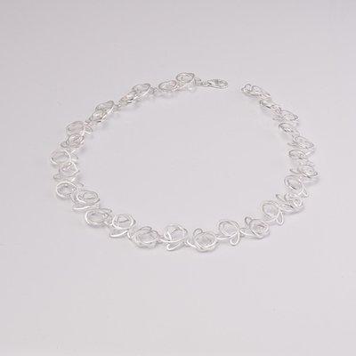 Zilveren design halsketting Bayan 43 cm