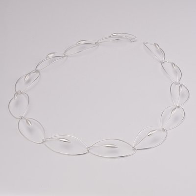 Zilveren design halsketting Caecilia 43 cm