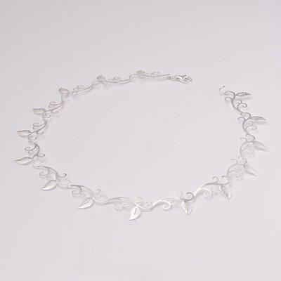 Zilveren design halsketting Caelin 43 cm