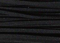 Leren veter ketting suede zwart - 100 cm