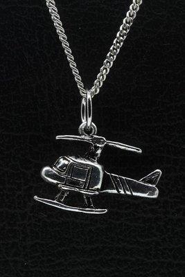 Tinnen Helicopter ketting hanger