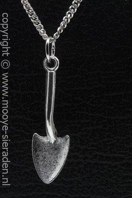 Tuinschep ketting hanger Zilvermetaal