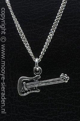 Electrische gitaar ketting hanger Zilvermetaal