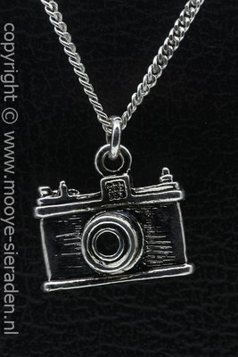 Fototoestel ketting hanger Zilvermetaal