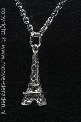 Eiffeltoren ketting hanger Zilvermetaal