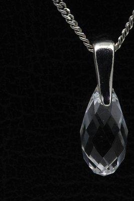 Swarovski kristal Briolette helder ketting hanger - klein