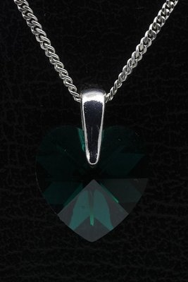 Swarovski kristal Heart emerald ketting hanger