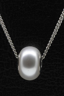 Swarovski Elements white pearl ketting hanger